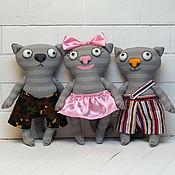 Куклы и игрушки handmade. Livemaster - original item Funny cats. Handmade.