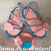 Работы для детей, ручной работы. Ярмарка Мастеров - ручная работа Пинетки сандалии Римские, сандалики. Handmade.