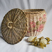 Для дома и интерьера handmade. Livemaster - original item a wicker basket in the style of shabby chic. Handmade.