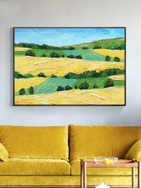 Картина яркий пейзаж Красивая абстракция в гостиную Пейзаж на холсте, Картины, Санкт-Петербург,  Фото №1