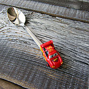 Spoons handmade. Livemaster - original item A teaspoon of Lightning McQueen (Cars). Handmade.