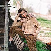 Одежда handmade. Livemaster - original item Jerseys: Women`s hand-knitted sweater in light beige. Handmade.