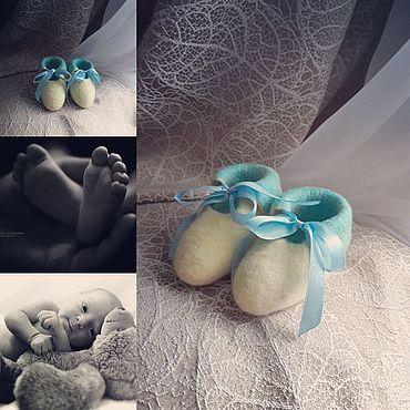 Обувь ручной работы. Ярмарка Мастеров - ручная работа Пинетки: из шерсти. Handmade.
