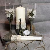 """Бокалы ручной работы. Ярмарка Мастеров - ручная работа Свадебные бокалы """"Paris"""". Handmade."""