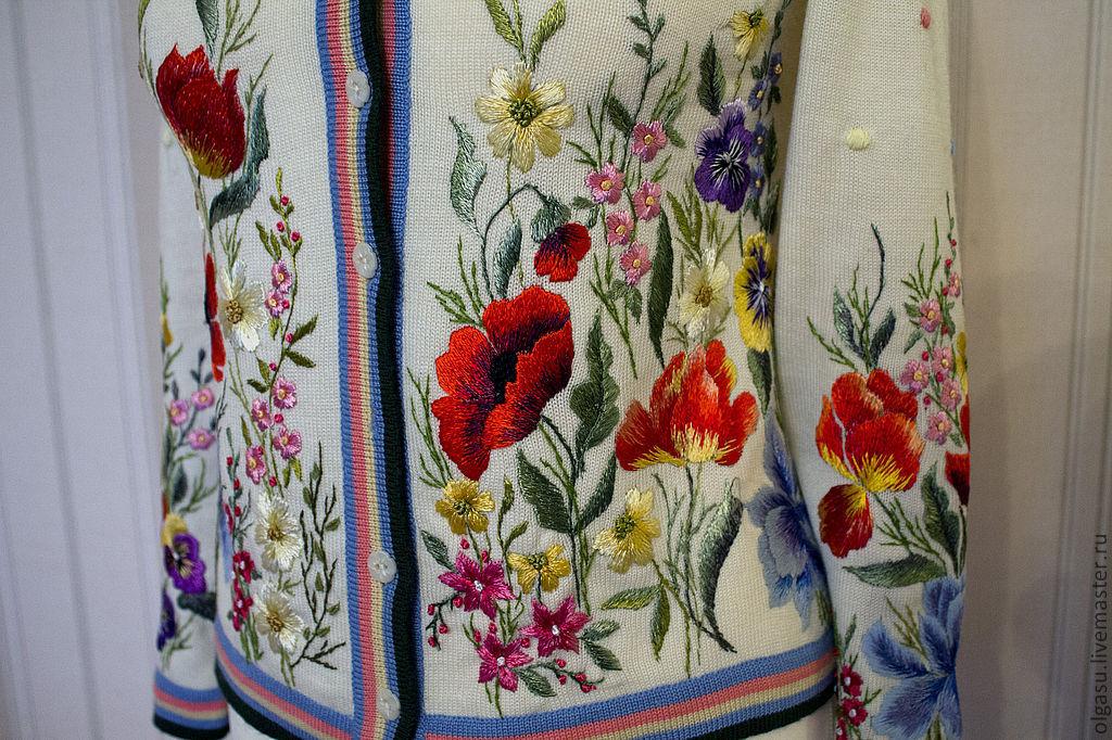 Осенний мотив вышивка