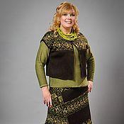 Одежда ручной работы. Ярмарка Мастеров - ручная работа Вязаная юбка с жилетом. Handmade.