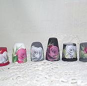 """Сувениры и подарки ручной работы. Ярмарка Мастеров - ручная работа Набор наперстков """"Розы"""" 11 штук. Handmade."""