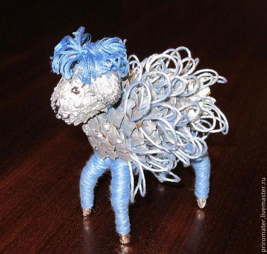 Игрушки животные, ручной работы. Ярмарка Мастеров - ручная работа. Купить Сувенир-Овечка.. Handmade. Голубой, природные материалы