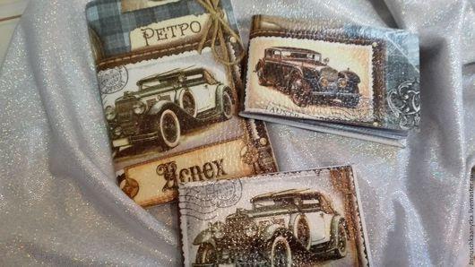Комплект обложка на паспорт плюс визитница малая 800 рублей