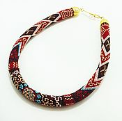 Necklace handmade. Livemaster - original item Harness beaded, Agamba. Handmade.