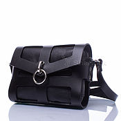 Сумки и аксессуары handmade. Livemaster - original item Cross-body bag 89415 over the shoulder women`s black leather. Handmade.