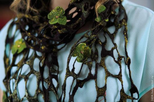 """Шарфы и шарфики ручной работы. Ярмарка Мастеров - ручная работа. Купить шарф """"Скандинавия 2"""". Handmade. Хаки, стильный подарок"""