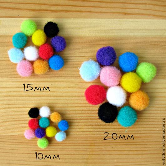 Другие виды рукоделия ручной работы. Ярмарка Мастеров - ручная работа. Купить 0116 Помпоны декоративные набор 10шт. 3 размера. Handmade.