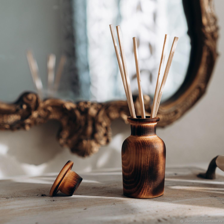 Wooden aroma diffuser with cedar sticks DA3, Interior elements, Novokuznetsk,  Фото №1