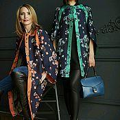 Одежда handmade. Livemaster - original item Blue-green cardigan coat