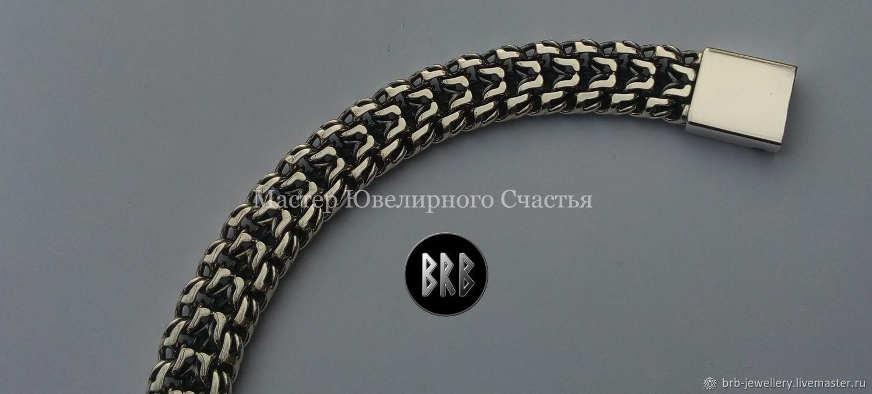 """Браслет """"Двухрядный Бисмарк"""" серебро 925"""