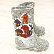 Обувь ручной работы. Ярмарка Мастеров - ручная работа Валенки детские. Handmade.