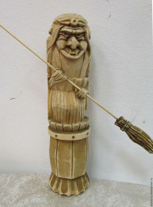 Статуэтки ручной работы. Ярмарка Мастеров - ручная работа. Купить Баба Яга резная из липы. Handmade. Липа, сувениры и подарки
