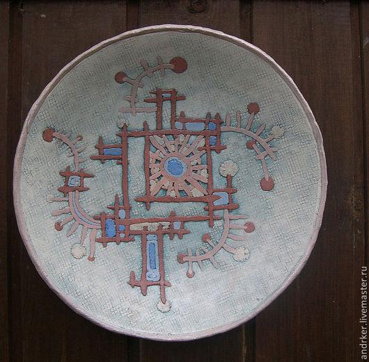 Декоративная посуда ручной работы. Ярмарка Мастеров - ручная работа. Купить Орнаментальная тарелка. Handmade. Декор для интерьера