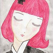 Картины и панно ручной работы. Ярмарка Мастеров - ручная работа Картина Прекрасная гейша. Handmade.