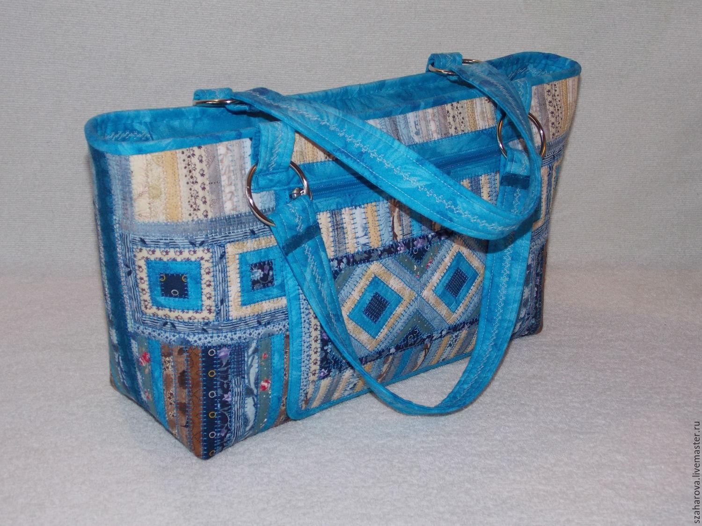 Сумки синие женские из ткани