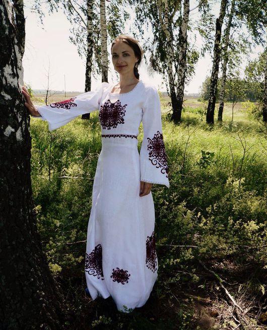 """Одежда ручной работы. Ярмарка Мастеров - ручная работа. Купить """"Женское счастье"""" ручная вышивка. Handmade. Славянское платье"""