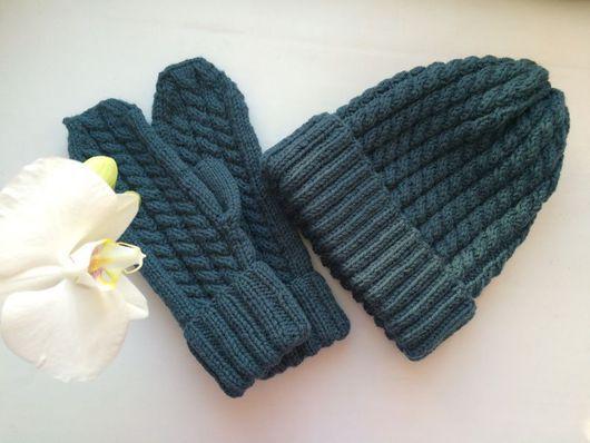 Комплекты аксессуаров ручной работы. Ярмарка Мастеров - ручная работа. Купить Комплект шапка/варежки. Handmade. Орнамент, снуд вязаный