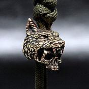Материалы для творчества handmade. Livemaster - original item Wolf Hunter bead, for lanyard, pendant, paracord, keychain. Handmade.