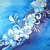 """Одежда ручной работы. Ярмарка Мастеров - ручная работа Шелковая блуза """"Вдохновение"""" - батик. Handmade."""