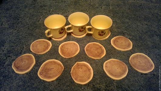 """Другие виды рукоделия ручной работы. Ярмарка Мастеров - ручная работа. Купить Подставка под чашки """"Акация"""". Handmade."""