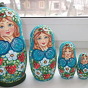 """Русский стиль handmade. Livemaster - original item Doll """"Strawberry """", """"raspberry"""" 5 seats. Handmade."""