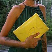 Сумки и аксессуары ручной работы. Ярмарка Мастеров - ручная работа Клатч-конверт из натуральной кожи. Handmade.