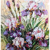 Картины и панно handmade. Livemaster - original item Irises, canvas, 40x50 cm. Handmade.