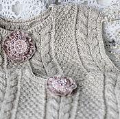"""Одежда ручной работы. Ярмарка Мастеров - ручная работа Жилеты """" Я как мама"""" жилеты вязаные жилеты ручной работы. Handmade."""