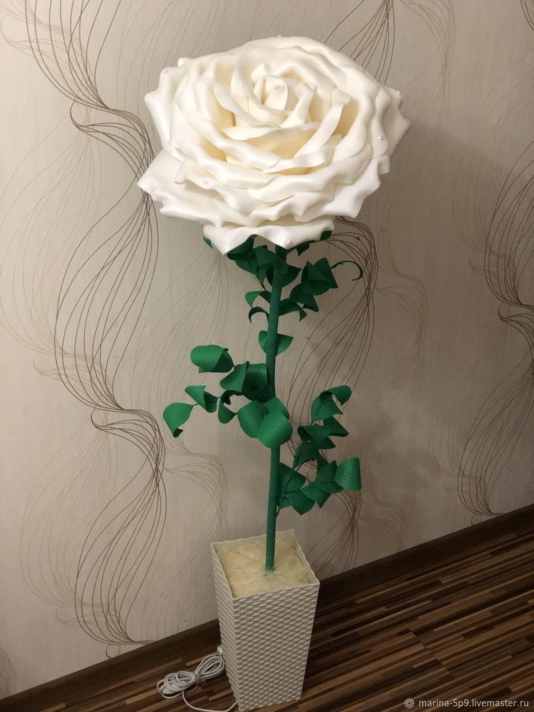 Торшер «Роза белая», Торшеры и напольные светильники, Москва,  Фото №1