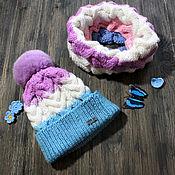 """Работы для детей, ручной работы. Ярмарка Мастеров - ручная работа Комплект шапка и снуд """"нежность"""". Handmade."""