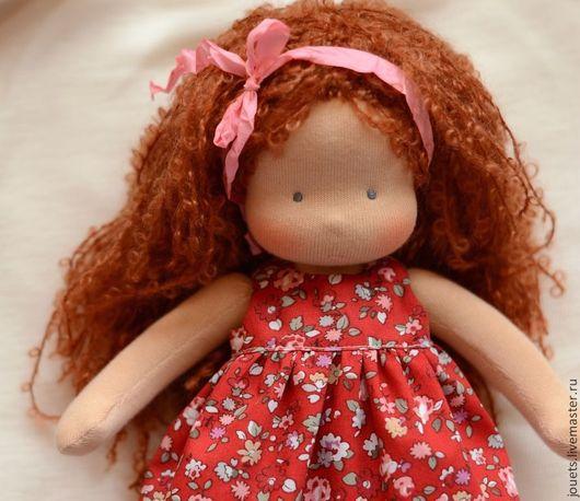 Вальдорфская игрушка ручной работы. Ярмарка Мастеров - ручная работа. Купить Вальдорфская кукла для Анюты, 32см. Handmade. Рыжий, вальдорфский