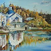 Картины и панно handmade. Livemaster - original item Oil painting. Autumn. Holy Spring. Handmade.