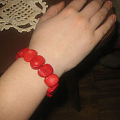 Украшения handmade. Livemaster - original item Coral bracelet. natural coral. Handmade.