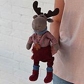 Куклы и игрушки ручной работы. Ярмарка Мастеров - ручная работа Лось с кленовым листом. Интерьерная игрушка. Handmade.