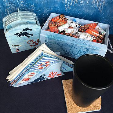 Для дома и интерьера ручной работы. Ярмарка Мастеров - ручная работа Комплекты аксессуаров для дома: Набор для кухни Морская рапсодия. Handmade.