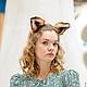 Диадемы, обручи ручной работы. Ободок с ушками лисы Карнавальный костюм Косплэй рыжие ушки лисы. Светлана Добрица 'KEDR craft house'. Ярмарка Мастеров.