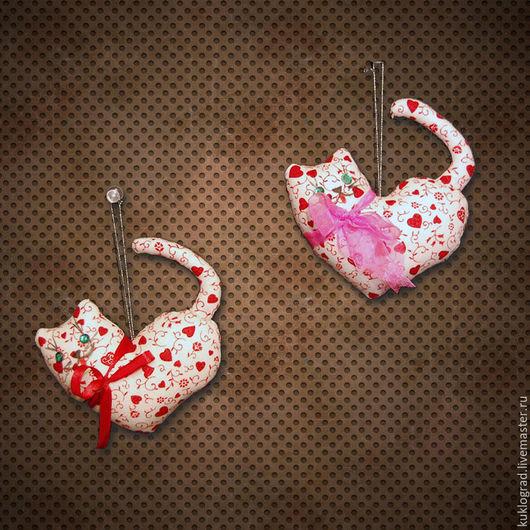Игрушки животные, ручной работы. Ярмарка Мастеров - ручная работа. Купить Котик-сердечко в стиле Тильда.. Handmade. Оригинальный сувенир
