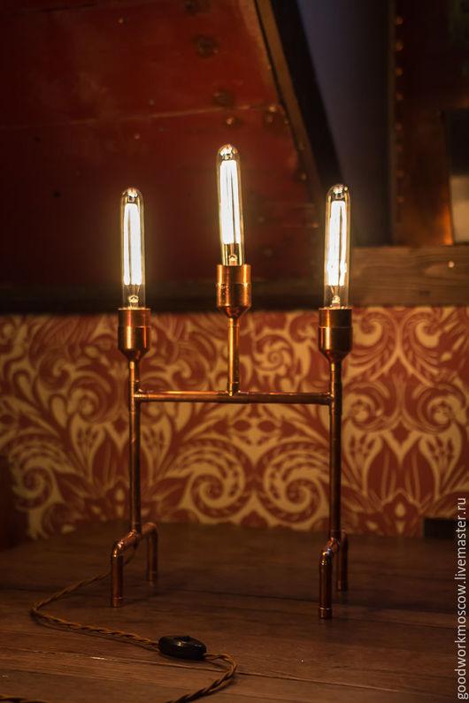 Освещение ручной работы. Ярмарка Мастеров - ручная работа. Купить Светильник COPPER VERTEX. Handmade. Медь, лампа настольная