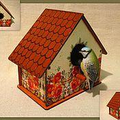 Для дома и интерьера ручной работы. Ярмарка Мастеров - ручная работа скворечник. Handmade.