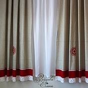 Для дома и интерьера ручной работы. Ярмарка Мастеров - ручная работа комплект штор Масленица. Handmade.