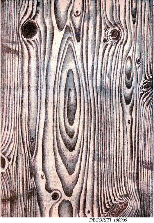 Декупаж и роспись ручной работы. Ярмарка Мастеров - ручная работа. Купить Старое дерево (D100909) - рисовая бумага, А4. Handmade.