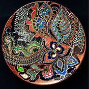 Посуда ручной работы. Ярмарка Мастеров - ручная работа Тарелка декоративная Coral storm. Handmade.