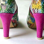"""Обувь ручной работы. Ярмарка Мастеров - ручная работа Сапоги """"Радужные"""". Handmade."""