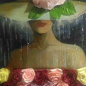 Картины ручной работы. Ярмарка Мастеров - ручная работа Девушка в шляпе. Handmade.